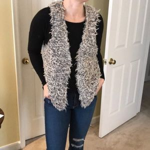 Free people furry vest